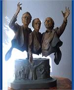 Three Tenors In-Concert Bronze Sculpture