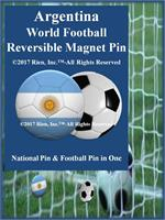 Argentina Football Reversible Magnet Pin