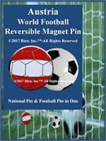 Austria Football Reversible Magnet Pin