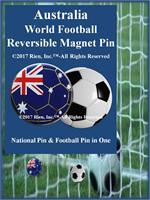 Australia Football Reversible Magnet Pin