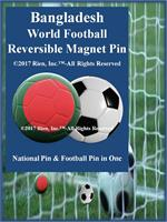 Bagladesh Football Reversible Magnet Pin