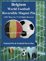 Belgium Football Reversible Magnet Pin