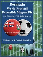 Bermuda Football Reversible Magnet Pin