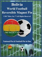 Bolivia Football Reversible Magnet Pin