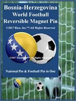 Bosnia-Herzegovina Football Reversible Magnet Pin