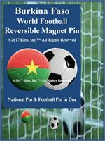 Burkina Faso Football Reversible Magnet Pin