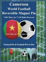 Cameroon Football Reversible Magnet Pin