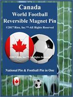 Canada Football Reversible Magnet Pin