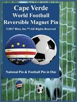 Cape Verde Football Reversible Magnet Pin