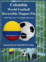 Colombia Football Reversible Magnet Pin