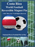 Costa Rica Football Reversible Magnet Pin