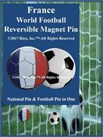 France Football Reversible Magnet Pin