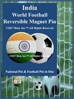 India Football Reversible Magnet Pin