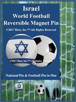 Israel Football Reversible Magnet Pin