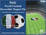 Italy Football Reversible Magnet Pin