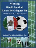 Mexico Football Reversible Magnet Pin