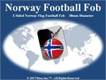 Norway Football Fob