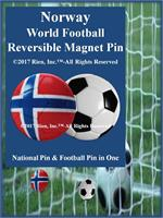 Norway Football Reversible Magnet Pin