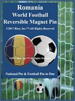 Romania Football Reversible Magnet Pin