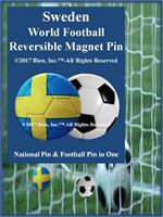 Sweden Football Reversible Magnet Pin