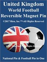 United Kingdom Football Reversible Magnet Pin