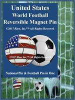 United States Football Reversible Magnet Pin
